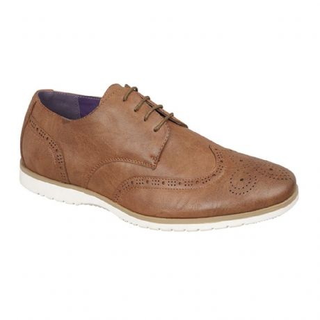 Mens Brouges Style Belstaff Shoes Charles Southwell Smart Casual Lace Up Tan New